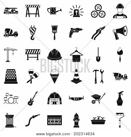 Screwdriver icons set. Simple style of 36 screwdriver vector icons for web isolated on white background