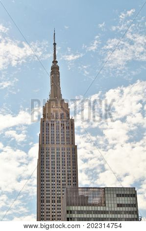New York City USA Empire State Building - June 21 2017 - a city view of the Empire State Building