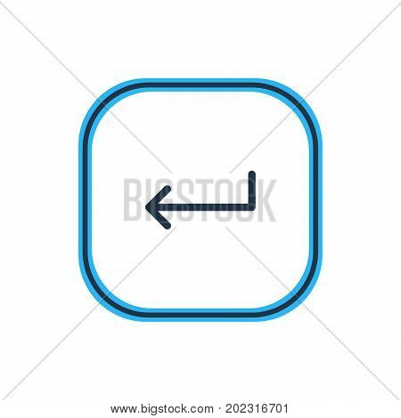 Beautiful Arrows Element Also Can Be Used As Turn  Element.  Vector Illustration Of Enter Outline.
