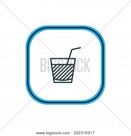 Beautiful Drinks Element Also Can Be Used As Drink Element.  Vector Illustration Of Juice Outline.