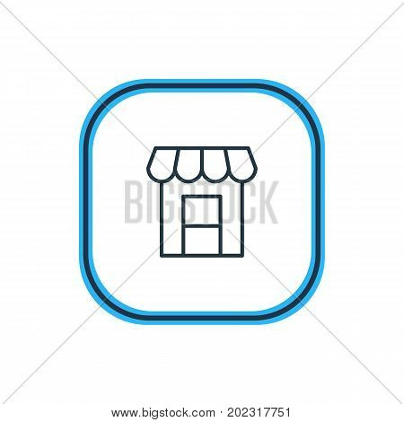 Beautiful  Element Also Can Be Used As Awning Element.  Vector Illustration Of Storefront Outline.