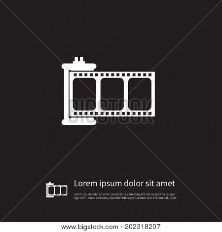 Filmstrip Vector Element Can Be Used For Movie, Negative, Filmstrip Design Concept.  Isolated Negative Icon.