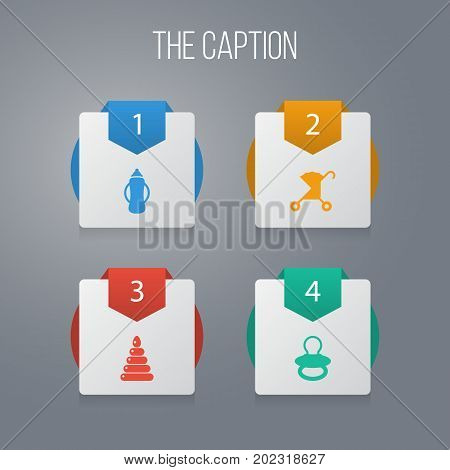 Icon Kid Set Of Fun, Container, Nursery And Other Vector Objects