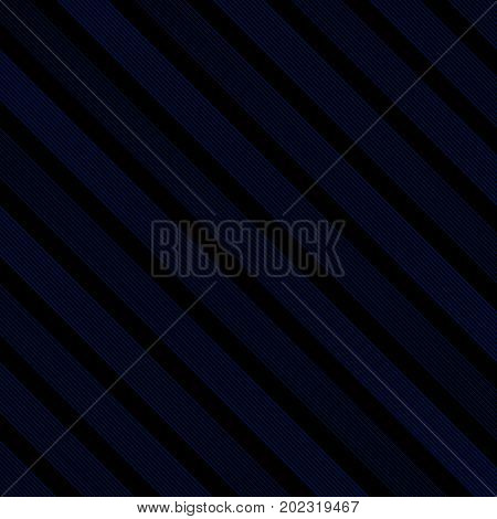 Abstract diagonal line striped navy blue and black color trendy pattern Modern stylish repeating texture Repeating geometric Vector illustration