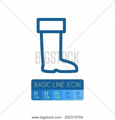 Galoshes Vector Element Can Be Used For Wellies, Galoshes, Boots Design Concept.  Isolated Wellies Outline.