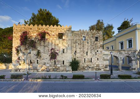 Medieval fortification of the Kos town, Greece.