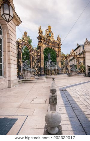 Located in the center of Nancy. The square is part of Unesco World Heritage and was developed in the eighteenth century. It has monument with golden gates and exceptional beautiful buildings