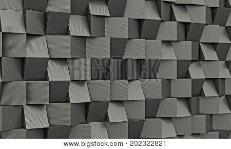 carbon fiber geometric poly background 3d rendering image