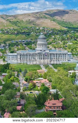 Utah State Capitol, Salt Lake City, Usa