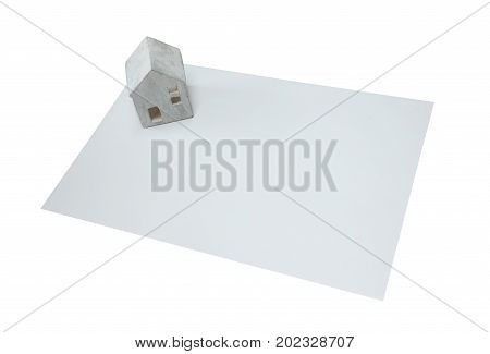 Small House On A White Card