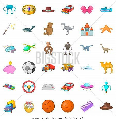 Helicopter icons set. Cartoon style of 36 helicopter vector icons for web isolated on white background