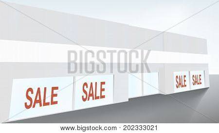 Vector Shop OR Boutique Store With Windows. EPS10 Vector