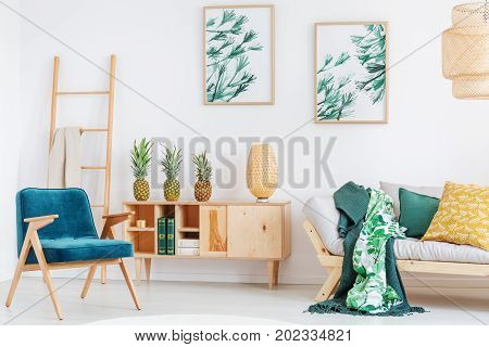 Cozy Room With Pineapples
