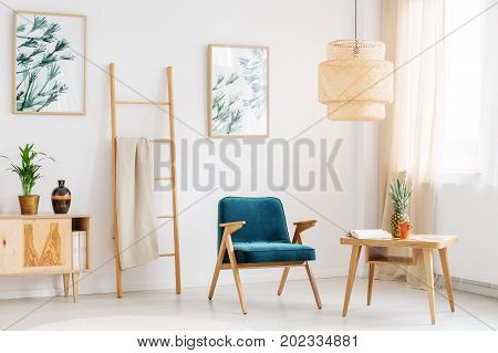 Blue Chair In Relax Room