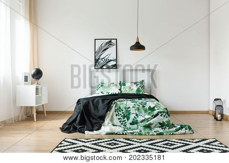 Horizontal Symmetric Photo Of Bedroom