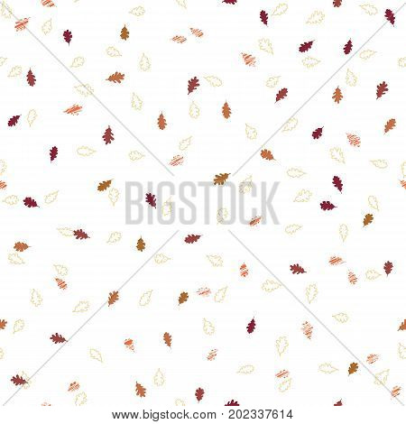 Falling Leaves. Simple Autumn Background. Seamless