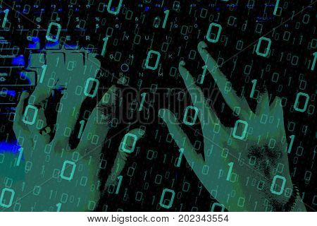 Cyber space security concept. hacker attacking on the computer network or cyberspace or business to steal the data..