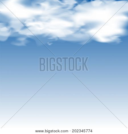 Cloudy Blurred Blue Sky. Clouds on Heaven