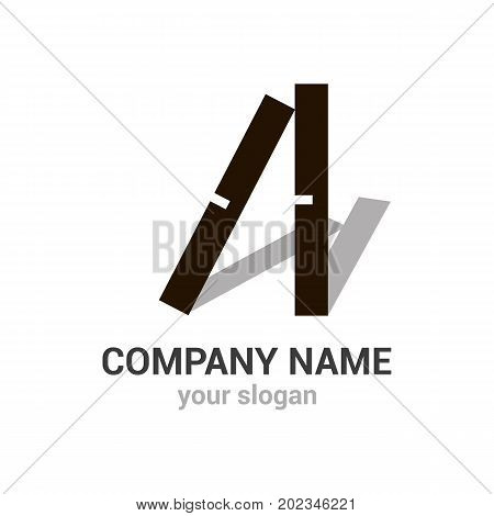 Domino vector logo template. EPS10. Gambling icon. Creative and style logotype for construction company.