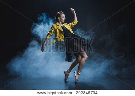 Ballet Dancer In Leather Jacket