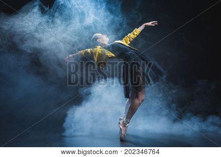 Girl Dancing In Smoke