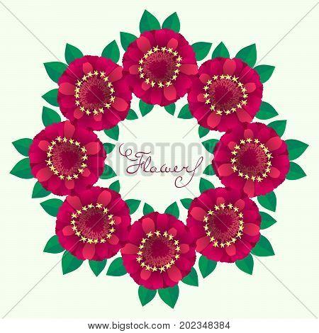 Ornamental circle pattern. vector illustration on white background