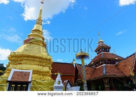Olden Pagoda, Pong Sanuk Temple, Lampang, Thailand