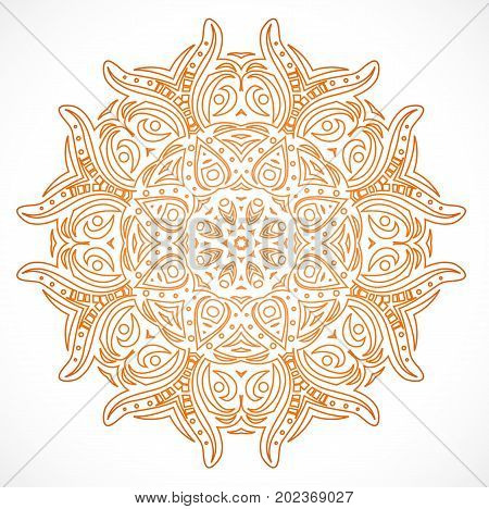 Abstract element of ornament. Illustration 10 version
