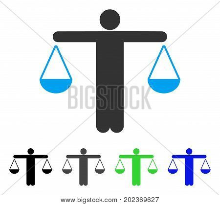 Lawyer Weight vector icon. Style is a flat graphic symbol in black, gray, blue, green color variants. Designed for web and mobile apps.