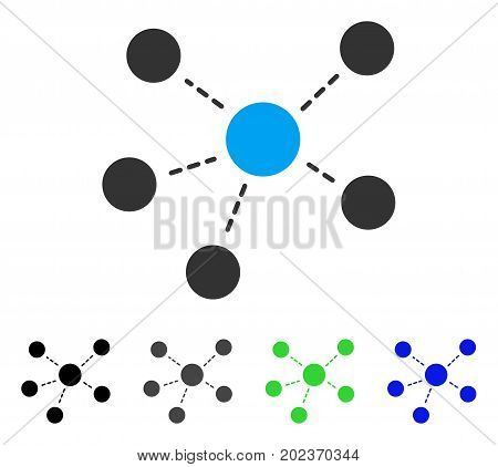 Connections vector pictograph. Style is a flat graphic symbol in black, gray, blue, green color versions. Designed for web and mobile apps.