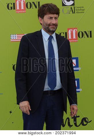 Giffoni Valle Piana Sa Italy - July 14 2017 : Dario Franceschini at Giffoni Film Festival 2017 - on July 14 2017 in Giffoni Valle Piana Italy