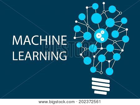 Machine learning concept. Innovative new technology as vector illustration