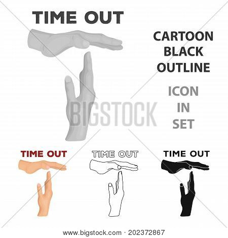 Gesture of a time out.Basketball single icon in cartoon style vector symbol stock illustration .