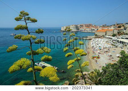 Banje Sea Beach In Dubrovnik