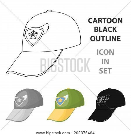 Cap football fan.Fans single icon in cartoon  vector symbol stock illustration.