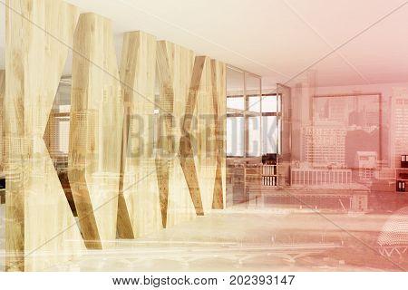 Geometric Pattern Open Space Office, Poster Double