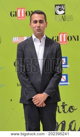 Giffoni Valle Piana Sa Italy - July 22 2017 : Luigi Di Maio at Giffoni Film Festival 2017 - on July 22 2017 in Giffoni Valle Piana Italy