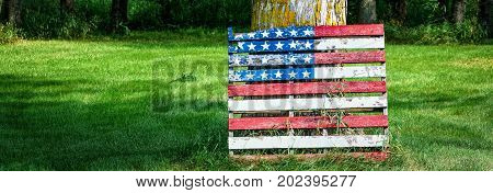Just about anything can be patriotic in the Wisconsin countryside.