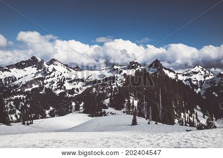 Tatoosh mountain range in Mount Rainier National Park