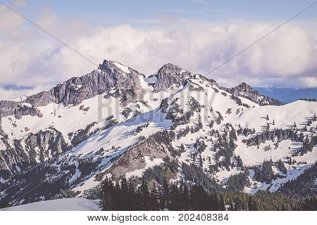 Tatoosh mountain range in Mount Rainier National Park