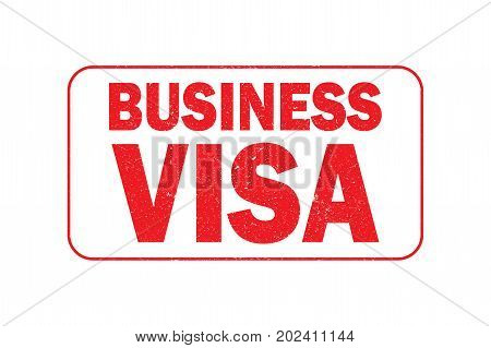 Business visa stampisolated on white backgroundstock vector illustration