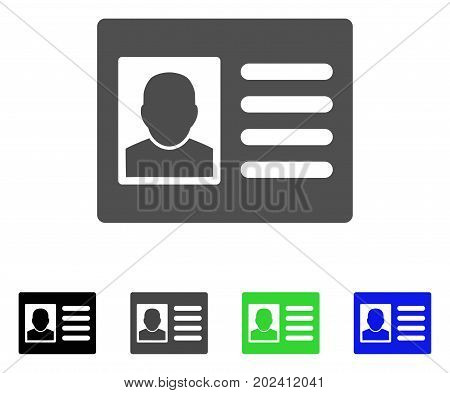 User Account vector icon. Style is a flat graphic symbol in black, grey, blue, green color variants. Designed for web and mobile apps.