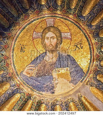 Restored Ancient Mural At Chora Church