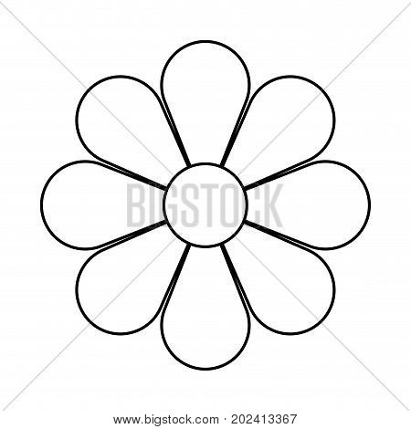 uncolored flower  over white background vector illustration