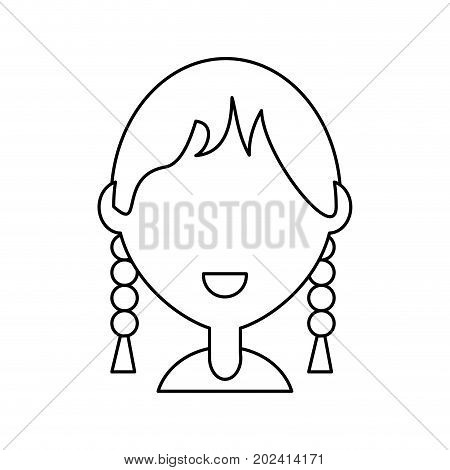uncolored woman over white vector illustration icon