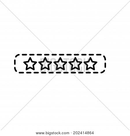 dotted shape rating stars bar to choose the favorite vector illustration