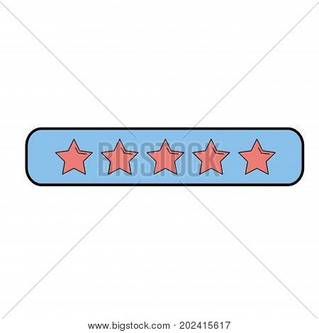 rating stars bar to choose the favorite vector illustration