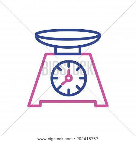silhouette bascule kitchen utensil object to cuisine vector illustration