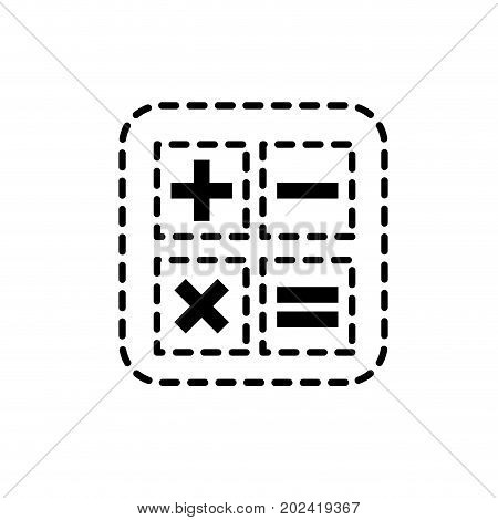 dotted shape calculator technology to mathematics account report vector illustration