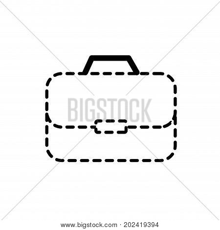 dotted shape briefcase to businessman important documents pepers vector illustration